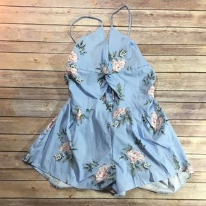 🌸SHEIN🌸 Light Blue Floral Romper